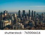 montreal skyline in autumn ... | Shutterstock . vector #765006616