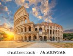 the coliseum or flavian... | Shutterstock . vector #765009268