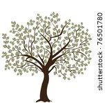 tree silhouette   Shutterstock .eps vector #76501780