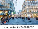vienna  austria   november 2017 ... | Shutterstock . vector #765018358