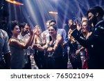 shot of a young woman dancing... | Shutterstock . vector #765021094