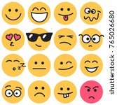 emotional round faces isolated... | Shutterstock . vector #765026680