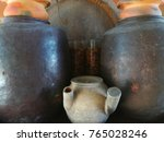 ancient jar and antique glass | Shutterstock . vector #765028246
