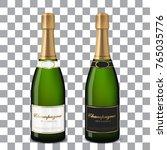 vector champagne bottles | Shutterstock .eps vector #765035776