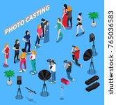 photo casting isometric... | Shutterstock .eps vector #765036583