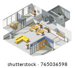 bank offices space interior... | Shutterstock .eps vector #765036598