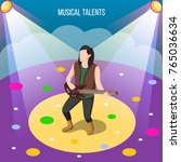 musical talents isometric...   Shutterstock .eps vector #765036634