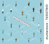 professions uniform isometric... | Shutterstock .eps vector #765037843