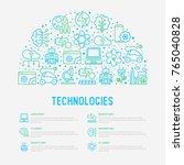 technologies concept in half... | Shutterstock .eps vector #765040828