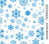 blue snowflake pattern   | Shutterstock .eps vector #765041320