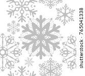 gray snowflake pattern | Shutterstock .eps vector #765041338