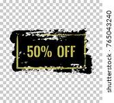 50  off sale discount banner.... | Shutterstock .eps vector #765043240