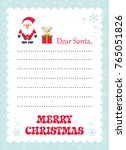cartoon letter to santa with... | Shutterstock .eps vector #765051826