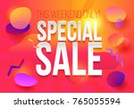 special sale poster or flyer... | Shutterstock .eps vector #765055594