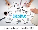 christmas concept. chart with... | Shutterstock . vector #765057028