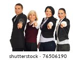 business people group pointing... | Shutterstock . vector #76506190
