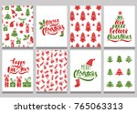 Set Of Christmas Greeting Card...