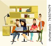 office team concept... | Shutterstock . vector #765074479