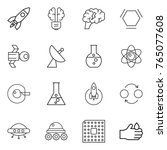 thin line icon set   rocket ... | Shutterstock .eps vector #765077608
