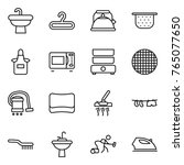 thin line icon set   sink ... | Shutterstock .eps vector #765077650