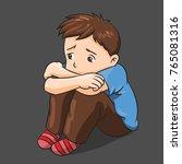 illustration of cartoon lonely... | Shutterstock .eps vector #765081316