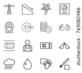 thin line icon set   lighthouse ... | Shutterstock .eps vector #765082486