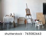 interior of painting studio of... | Shutterstock . vector #765082663