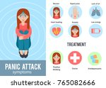 panic attack infographics.... | Shutterstock .eps vector #765082666