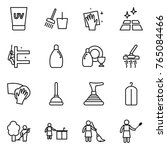 thin line icon set   uv cream ... | Shutterstock .eps vector #765084466