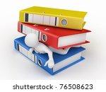 men with folders on white...   Shutterstock . vector #76508623