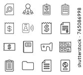 thin line icon set   search... | Shutterstock .eps vector #765086998