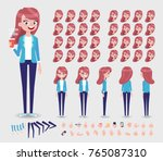 front  side  back  3 4 view... | Shutterstock .eps vector #765087310