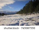 winter lake abant | Shutterstock . vector #765087550