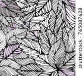 seamless leaves background.... | Shutterstock .eps vector #765087628