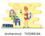 vector illustration of woman... | Shutterstock .eps vector #765088186