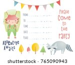 invitation design. birthday...   Shutterstock .eps vector #765090943