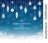 new year and merry christmas... | Shutterstock .eps vector #765091363
