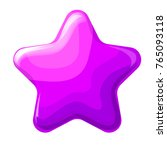 vector glossy round star...