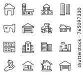 thin line icon set   home ... | Shutterstock .eps vector #765097330