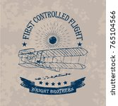 the first flight of wright... | Shutterstock .eps vector #765104566