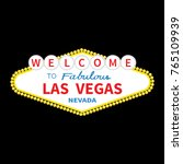 welcome to las vegas sign icon. ... | Shutterstock .eps vector #765109939