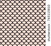 girl mermaid seamless pattern.... | Shutterstock .eps vector #765115810