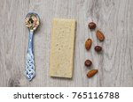 muesli with nuts hazelnuts ... | Shutterstock . vector #765116788