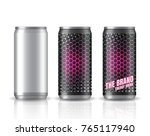 realistic aluminum cans. vector ... | Shutterstock .eps vector #765117940
