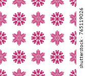 christmas seamless pattern with ... | Shutterstock .eps vector #765119026