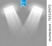 white vector spotlight light...   Shutterstock .eps vector #765119473