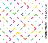 seamless pattern with colorful... | Shutterstock .eps vector #765120910
