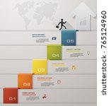 abstract 5 steps infographis... | Shutterstock .eps vector #765124960
