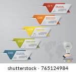 abstract infographics 5 steps... | Shutterstock .eps vector #765124984