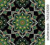 aboriginal dot painting... | Shutterstock .eps vector #765125200